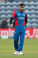 Rashid Khan (Afghanistan) during Afghanistan vs Sri Lanka, ICC World Cup Cricket at Sophia Gardens Cardiff on 4th June 2019