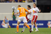 Sinisa Ubiparipovic (8) of the New York Red Bulls plays the ball. The New York Red Bulls defeated the Houston Dynamo 2-1 during a Major League Soccer (MLS) match at Red Bull Arena in Harrison, NJ, on June 2, 2010.
