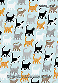 Kate, GIFT WRAPS, GESCHENKPAPIER, PAPEL DE REGALO, paintings+++++Marching cats,GBKM352,#gp#, EVERYDAY ,cat,cats