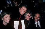 Burt Lancaster with his family at the NY Film Critics awards in New York City. January 1982.