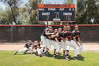 Occidental College baseball team, 2015-2016, taken May 12, 2016 on Anderson Field.<br />