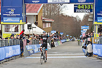 The 4th stage of Tirreno Adriatic from Narni to Prati di Tivo was won by Froome Christpher team Sky ProCycling on March 9, 2013. In the photo  Froome Christpher Photo Credit: Diloreto A.