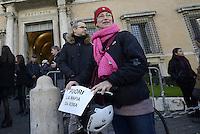 Roma, 12 Gennaio 2015<br /> Marcia del Movimento 5 Stelle dal Campidoglio in Prefettura dove Parlamentari e consiglieri portano scatoloni con atti e documentazione da loro raccolti per chiedere il commissariamento del comune di Roma coinvolto in Mafia Capitale.