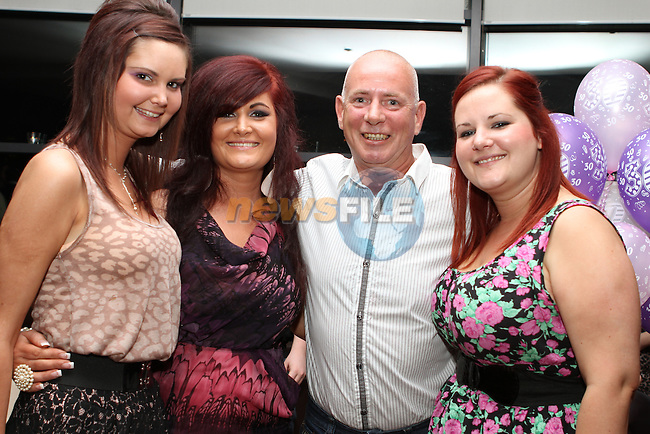 Chantelle Faulkner Donnelly with her sisters Sinead and Suzanne and her Dad John at her 30th in Bru...(Photo credit should read Jenny Matthews www.newsfile.ie)....This Picture has been sent you under the conditions enclosed by:.Newsfile Ltd..The Studio,.Millmount Abbey,.Drogheda,.Co Meath..Ireland..Tel: +353(0)41-9871240.Fax: +353(0)41-9871260.GSM: +353(0)86-2500958.email: pictures@newsfile.ie.www.newsfile.ie.