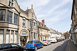 Historic buildings in main street of Bruton, Somerset, England, UK