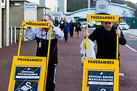 Program sellers <br /> Re: Behind the Scenes Photographs at the Liberty Stadium ahead of and during the Premier League match between Swansea City and Bournemouth at the Liberty Stadium, Swansea, Wales, UK. Saturday 25 November 2017