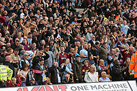 Villa fans celebrate Wesley of Aston Villa scoring his second goal during Norwich City vs Aston Villa, Premier League Football at Carrow Road on 5th October 2019