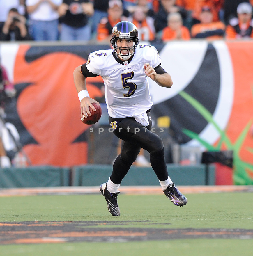 JOE FLACCO, of the Baltimore Ravens, in action during the Ravens game against the Cincinnati Bengals on November 8, 2009 in Cincinnati, OH. Bengals won 17-7.