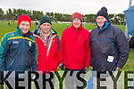 supporters Columba O'Connor, John Mulvihill, Dan Wrenn, Johnny Wrenn.  Tarbert pictured during half time at the Bernard O'Callaghan Memorial Senior Football Championship final last Saturday Beale V Listowel Emmets