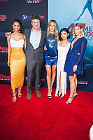 Los Angeles, CA - AUGUST 13th: <br /> Corinne Foxx, Johannes Roberts, Sistine Rose Stallone, Brianne Tju, Sophie Nélisse attends the 47 Meters Down: Uncaged premiere at the Regency Village Theater on August 13th 2019. Credit: Tony Forte/MediaPunch