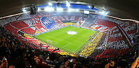 MUNIQUE, ALEMANHA, 29.04.2014 - LIGA DOS CAMPEOES - BAYERN DE MUNIQUE - REAL MADRID - Torcida do Bayern de Munique durante partida contra o Real Madrid no jogo de volta da semifinal da Liga dos Campeões da Europa contra o Bayern de Munique, na Allianz Arena, em Munique, Alemanha, nesta terca-feira, 29. (Foto: Pixathlon / Brazil Photo Press).