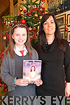 Dear Grace Competition : Meabh Trench, Bunagara, Listowel, a pupil at Dromclough NS who has had her entry into the Dear Grace competition published in the 9th edition of the Dear Grace book for 2010 pictured with her teacher Mrs Breda Carmody  on Friday last.