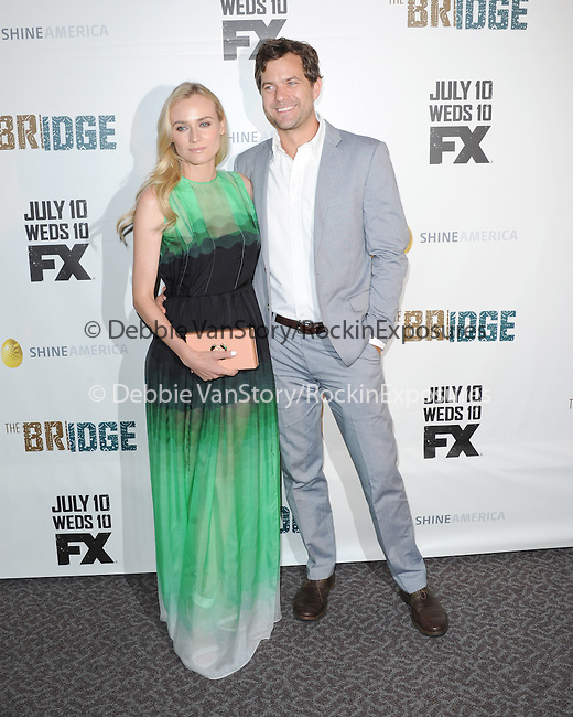 Diane Kruger and Joshua Jackson  at The red carpet event for The FX Series The Bridge held at The DGA in West Hollywood, California on July 22,2021                                                                   Copyright 2013 Hollywood Press Agency