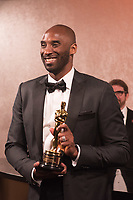 Kobe Bryant poses at the Governors Ball with the Oscar&reg; for best animated short film for work on &ldquo;Dear Basketball&rdquo; following the live ABC Telecast of The 90th Oscars&reg; at the Dolby&reg; Theatre in Hollywood, CA on Sunday, March 4, 2018.<br /> *Editorial Use Only*<br /> CAP/PLF/AMPAS<br /> Supplied by Capital Pictures