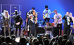 Sean Lennon,Yoko Ono,Perry FARRELL, Lady Gaga and Joseph Gordon-Levitt performs with We are Plastic Ono Band on night 2 at The Orpheum Theatre in Downtown Los Angeles, California on October 02,2010                                                                   Copyright 2010  Debbie VanStory / RockinExposures