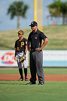 Umpire Kevin Levine during a Florida Instructional League game between the Pittsburgh Pirates and the Detroit Tigers on October 6, 2018 at Joker Marchant Stadium in Lakeland, Florida.  (Mike Janes/Four Seam Images)