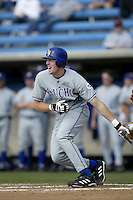 Matt Wilkerson of the UC Santa Barbara Gouchos bats during a game at Eddy D. Field Stadium on February 7, 2003 in Malibu, California. (Larry Goren/Four Seam Images)