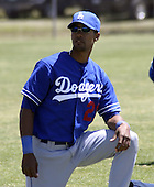 April 1, 2004:  Outfielder Franklin Gutierrez of the Los Angeles Dodgers organization during Spring Training at Dodgertown in Vero Beach, FL.  Photo copyright Mike Janes/Four Seam Images