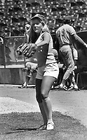 Oakland Athletics ball girl Mary Barry...(1972 photo by Ron Riesterer)