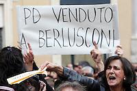 20130420 ROMA-POLITICA: PROTESTE CONTRO LA RIELEZIONE DI NAPOLITANO