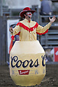 20 Aug 2014: PRCA Rodeo clown John Harrison was on hand during the Seminole Hard Rock Extreme Bulls competition at the Kitsap County Stampede in Bremerton, Washington.