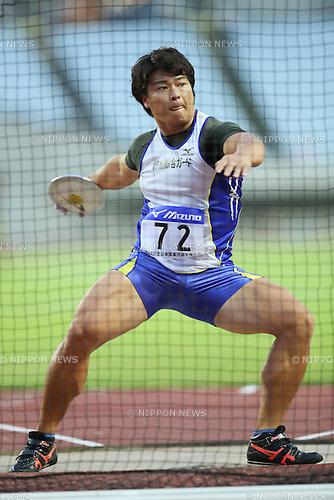 Yuji Tsutsumi, <br /> SEPTEMBER 24, 2016 - Athletics : <br /> The 64th All Japan Industrial Athletics Championship <br /> Men's Discus Throw <br /> at Yanmar Stadium Nagai, Osaka, Japan. <br /> (Photo by YUTAKA/AFLO SPORT)