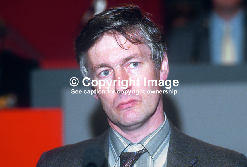 William Wallace, PPC, prospective parliamentary candidate, Shipley, Liberal Party, UK, taken annual conference September 1986. 19860919WW1<br />