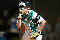 Chicago State Cougars catcher Steven Jacobson (14) during a game against the Georgetown Hoyas on March 3, 2017 at North Charlotte Regional Park in Port Charlotte, Florida.  Georgetown defeated Chicago State 11-0.  (Mike Janes/Four Seam Images)