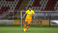 Sido Jombati of Wycombe Wanderers in action during the Sky Bet League 2 match between Dagenham and Redbridge and Wycombe Wanderers at the London Borough of Barking and Dagenham Stadium, London, England on 9 February 2016. Photo by Andy Rowland.