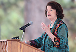 U.S. Sen. Dianne Feinstein, D-Ca., speaks at the Lake Tahoe Summit at Edgewood Tahoe in Stateline, Nev., on Monday, Aug. 13, 2012. The event, in its 16th year, brings political leaders from Nevada and California together to address issues related to preserving Lake Tahoe..Photo by Cathleen Allison