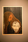 'Man's Head in Woman's Hair' 1896 woodcut by Edvard Munch 1863-1944, Kode 3 art gallery Bergen, Norway