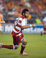 FC Dallas forward Carlos Ruiz celebrates after his 14th minute goal.  Houston Dynamo defeated FC Dallas 4-1 at Robertson Stadium in Houston, TX on November 2, 2007.  Houston Dynamo won the Western Conference semifinal series with an aggregate score of 4-2.