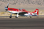 Bill 'Tiger' Destafani taxies the P-51D Mustang 'Strega' after taking the Gold Unlimited Championship at the 2008 Reno National Championship Air Races held annually at Stead Field, Nevada.  Strega, a modified North American Aviation P-51D Mustang powered by a Rolls Royce Merlin engine, finished first for the seventh time in its illustrious career.
