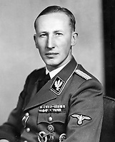BNPS.co.uk (01202 558833)<br /> Pic:<br /> <br /> Assasinated - Feared SS General Reinhard Heydrich.<br /> <br /> A luxury house on an English country estate where the Allies plotted the infamous assassination of one of Adolf Hitler's top henchmen has gone on the market.<br /> <br /> Rooftops, a Norwegian-style chalet, is located on the Moreton Paddox estate in Warwickshire where 4,000 Czech soldiers were billeted during the Second World War.<br /> <br /> The plot to assasinate Nazi monster SS General Reinhard Heydrich involved two Czech soldiers who parachuted into Prague where they attacked and killed him as he was driven to work. <br /> <br /> His death led to appalling Nazi reprisals on locals, with more than 1,300 men, women and children massacred.<br /> <br /> The Edwardian mansion at Moreton Paddox that was requisitioned for the war effort was later demolished and Rooftops was built on the grounds in 2009.