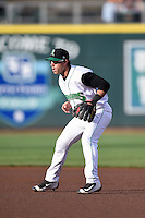 Dayton Dragons second baseman Shane Mardirosian (13) during a game against the South Bend Cubs on May 11, 2016 at Fifth Third Field in Dayton, Ohio.  South Bend defeated Dayton 2-0.  (Mike Janes/Four Seam Images)