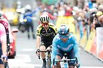 Adam Yates (GBR) Mitchelton-Scott crosses the finish line at the end of Stage 2 of the Criterium du Dauphine 2019, running 180km from Mauriac to Craponne-sur-Arzon, France. 9th June 2019<br /> Picture: Colin Flockton | Cyclefile<br /> All photos usage must carry mandatory copyright credit (© Cyclefile | Colin Flockton)