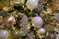 Pictured: A variety of baubles and other tree decorations in the showroom. Thursday 16 November 2017<br /> Re: Festive company which manufactures tinsel in Cwmbran, Wales, UK.