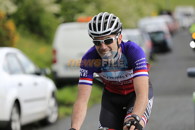 James Quinn (Dublin Friends First St Tiernan's) on the first Cat 3 climb Loughcrew during Stage 1 of the 2017 An Post Ras running 146.1km from Dublin Castle to Longford, Ireland. 21st May 2017.<br /> Picture: Eoin Clarke | Cyclefile<br /> <br /> <br /> All photos usage must carry mandatory copyright credit (&copy; Cyclefile | Eoin Clarke)