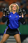 16 October 2004: A Wizards cheerleader before the game. The Kansas City Wizards defeated the Los Angeles Galaxy 1-0 at Arrowhead Stadium in Kansas City, MO in a regular season Major League Soccer game..