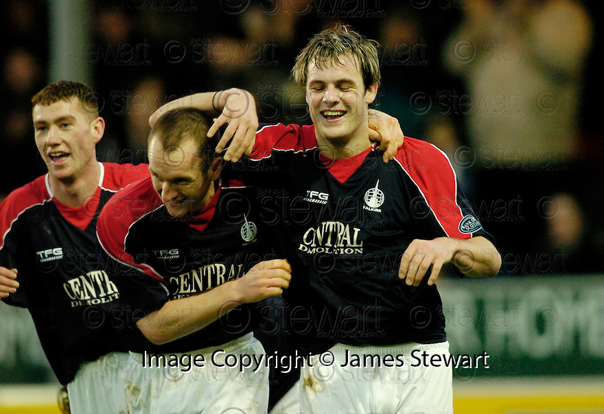 30/12/2006       Copyright Pic: James Stewart.File Name : sct_jspa07_falkirk_v_inverness.ANTHONY STOKES CELEBRATES AFTER HE SCORES FALKIRK'S SECOND.James Stewart Photo Agency 19 Carronlea Drive, Falkirk. FK2 8DN      Vat Reg No. 607 6932 25.Office     : +44 (0)1324 570906     .Mobile   : +44 (0)7721 416997.Fax         : +44 (0)1324 570906.E-mail  :  jim@jspa.co.uk.If you require further information then contact Jim Stewart on any of the numbers above.........