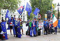 Stop Brexit, Stop the Coup, Pro Democracy demo outside the Cabinet Office, Whitehall, London, UK - 2nd Sept 2019<br /> <br /> Photo by Keith Mayhew