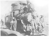 D&amp;RG #241 and caboose #0526 near the Gato water tank with several men plus a boy posing for the cameraman.<br /> D&amp;RG  Gato (Pagosa Junction), CO  1/1912