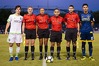 Carson, CA -  July 14, 2017: In the 2016-17 U.S. Soccer Development Academy U-17/18 Semi Finals LA Galaxy vs Seattle Sounders FC at StubHub center.
