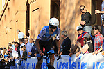 Krists Neilands (LAT) Israel Cycling Academy on the San Luca climb during Stage 1 of the 2019 Giro d'Italia, an individual time trial running 8km from Bologna to the Sanctuary of San Luca, Bologna, Italy. 11th May 2019.<br /> Picture: Eoin Clarke | Cyclefile<br /> <br /> All photos usage must carry mandatory copyright credit (© Cyclefile | Eoin Clarke)
