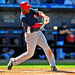 7 March 2009: Washington Nationals' infielder Joel Guzman in action during a Spring Training game against the New York Mets at Tradition Field in Port St. Lucie, Florida. The Nationals defeated the Mets 7-5 in the Grapefruit League matchup. Mandatory Photo Credit: Ed Wolfstein Photo