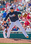 11 March 2016: Atlanta Braves pitcher Jim Johnson on the mound during a Spring Training pre-season game against the Philadelphia Phillies at Champion Stadium in the ESPN Wide World of Sports Complex in Kissimmee, Florida. The Phillies defeated the Braves 9-2 in Grapefruit League play. Mandatory Credit: Ed Wolfstein Photo *** RAW (NEF) Image File Available ***