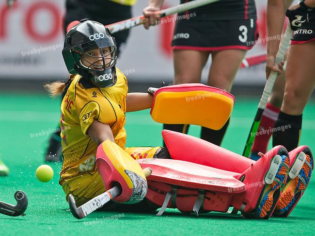 02/07/2015<br /> HWL Semi Final Antwerp Belgium 2015<br /> Japan v Belgium Women<br /> Aisling  D'Hooghe<br /> Photo: Grant Treeby