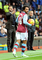 Manager Tim Sherwood of Aston Villa during the Barclays Premier League match between Aston Villa v Swansea City played at the Villa Park Stadium, Birmingham on October 24th 2015
