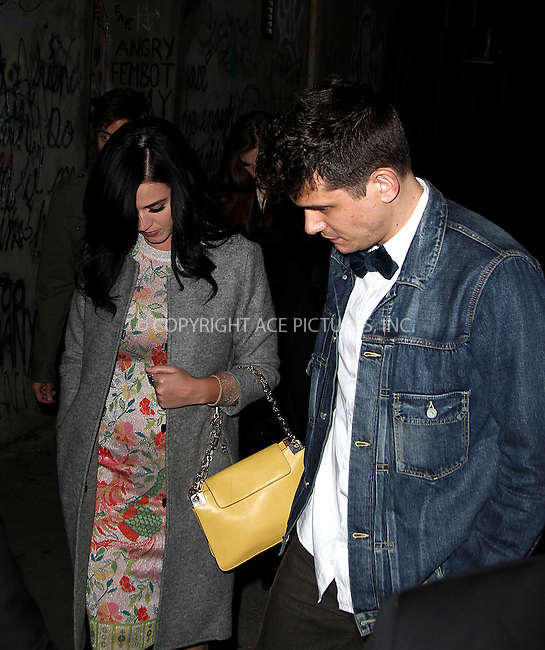 WWW.ACEPIXS.COM....October 16 2012, New York City....Musicians Katy Perry and John Mayer set out to celebrate Mayer's 35th birthday on October 16 2012 in New York City....By Line: Zelig Shaul/ACE Pictures......ACE Pictures, Inc...tel: 646 769 0430..Email: info@acepixs.com..www.acepixs.com