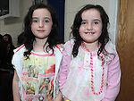 Abbie and Claire Macken pictured at the Louth Fleadh Cheoil held in St Oliver's Community College. Photo: Colin Bell/pressphotos.ie